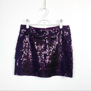 🌼2/$22🌼 Purple Sequin Covered Mini Skirt